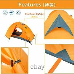 1 2 3 Man Person 3 Season Tent for Camping Backpacking Orange 1 People