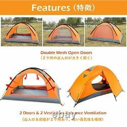 1 2 Man Person 3 Season Tent for Camping Backpacking Hiking Easy Set Up