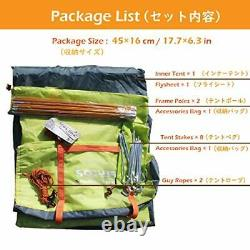 1 2 Man Person 3 Season Tent for Camping Backpacking Hiking Orange 1 People