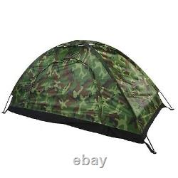 1 Man Camping Dome Tent, Outdoor Camouflage UV Protection Waterproof One Perso