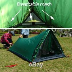 1 Person Camping Hiking Mountain Backpacking Waterproof Silicone One Man Tent