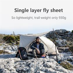1 Person Man Ultralight Camping Tent 15D Nylon Waterproof Tent Outdoor Hiking US