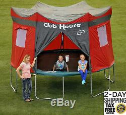 12 Feet Trampoline Cover Club House Play Tarp Enclosure Camp Propel Tent Kids