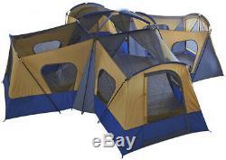 14 Man Family Person 3 Season Room Base Camp Tent 4 Entrances Camping Fast Ship