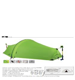 15D Double Layer One Men Single Person Tunnel Backpacking Tent 3 Season For Camp