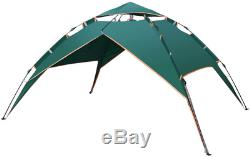 2-Layered Camping Tent and Canopy for 3-4 People Pop-up Rainproof Windproof Sunp