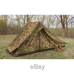 2 Man Camo Tent Dutch Military Special Forces Heavyweight Canvas Outdoor Camping