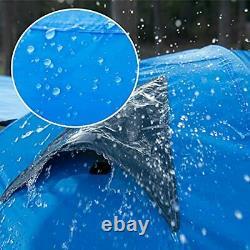2 Man Camping Tent, Waterproof Windproof Two Doors Lightweight Backpacking Tent