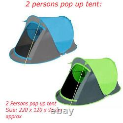 2 Man Person Folding Pop Up Tent Suitable For Travel Camping Hiking Beach Festiv