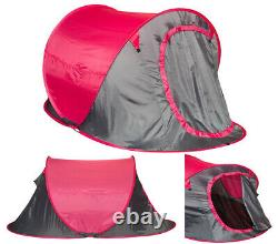 2 Man Person Pop Up Tent Hiking Camping Festival Beach Quick Instant Fast Pitch