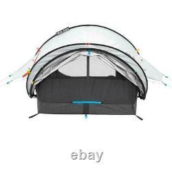 2 Man Person QUECHUA 2 Seconds Waterproof FRESH & BLACK POP-UP Camping Tent NEW