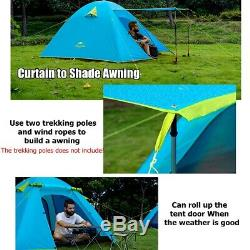 2 Man Tent With Inner Mesh Awning Camping Festival Waterproof UV Aluminum