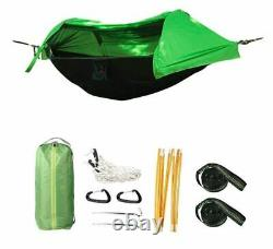 2 Person Man Hammock Tent Kit w Rainfly Mosquito Net Waterproof Camping Shelter