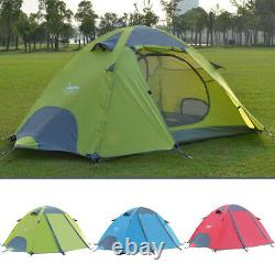 2 Person Man Waterproof Camping Hiking Tent PU Double Layer Ultralight Beach
