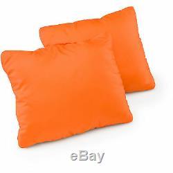 22 Piece Camping Set 2 Sleeping Bags Pillows Foam Sleep Pads Chairs 4 Man Tent