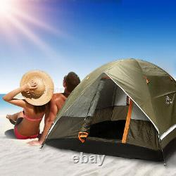 3-4 Man Person Camping Automatic Tent Double Layer Festival Fishing Family Beach