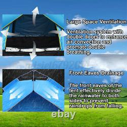 3-4 Man Person Outdoor Hiking Camping Tent Waterproof Room Backpack Fishing
