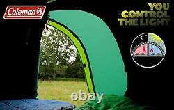 3/4 Man Tent, 1 Bedroom Family Dome Tent Green/Grey, One Size