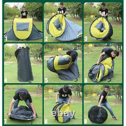 3-4 Man Waterproof Pop Up Tent Automatic Family Tent Camping Festival Home USA