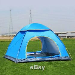 3-4 Person Man Instant Run Up Tent Automatic Camping Festival Outdoors