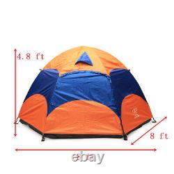 3-5 Person Man Family Hydraulic Tent 2 Layer Hiking Camping Group Tent