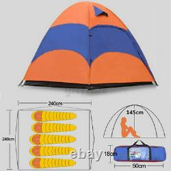 3-5 Person Man Family Outdoor Tent 2 Layer Hiking Camping Group Tent