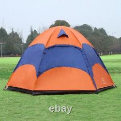 3-5 Person Man Family Outdoor Tent 2 Layer Hiking Camping Group Tent Canopy