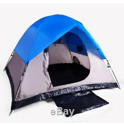 3-Man Camping Backpacking Tent 82.5 X 82.5 X 55 Seam Taped Fly with Bag BLUE