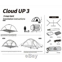 3 Man Tent Double Wall Skin Dome Lightweight Camping Hiking Outdoor Waterproof