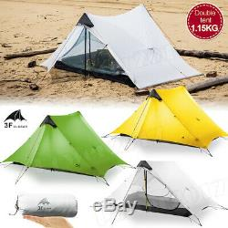3F UL GEAR 1 2 Person Man Outdoor Ultralight Camping Tent 3 Season Backpacking