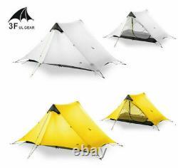 3F UL GEAR 1/ 2 Person Man Outdoor Ultralight Camping Tent 3 Season UV Resistant