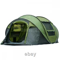 4-6 Man Pop Up Tent Hydraulic Automatic Waterproof Camping Outdoor Hiking Family