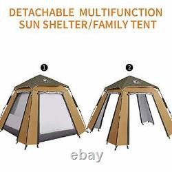 4 Man Pop Up Tent, Camping Waterproof Tent, 2-Door And 2-Pane Double Layer Tent