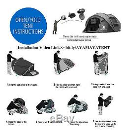 4 Season Pop Up Tent For 3-4 Man Waterproof Camping Or Hiking Tent