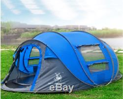 4 season pop up tent for 3-4 man, double layer camping or hiking tent