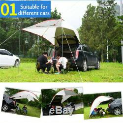 5-8 Men Car Tent Awning Rooftop SUV Truck Camping Travel Shelter Sunshade Canopy