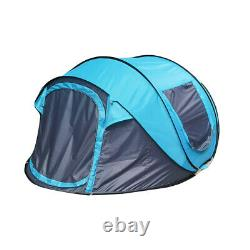 5-8 Men Large Single Layer Automatic Pop up Camping Tent Family Festival Shelter