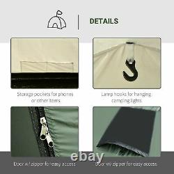 5 Man Camping Tent Family Friends Outdoor Shelter with Rainfly 3 Rooms Carry Bag