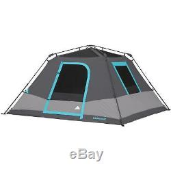 6 Man Camping Tent Person Family Hiking Shelter Dark Rest Instant 3 Window Cabin