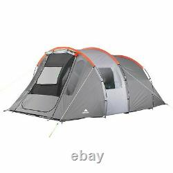 6 Man Tunnel Tent Ozark Orange and Grey Camping Family Staycation Brand New