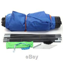 6 Person Men Camping Dome Tent Canvas Family Hiking 2 Rooms 1 Living Waterproof