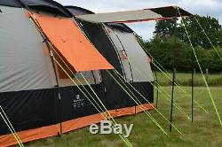 8 Berth Tent Family Camping Eight Man Tent OLPRO Wichenford 3.0 Grey & Orange