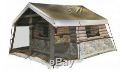 8 Man Log Cabin Camping Tent Waterproof Canopy Tub Floor Vents 13L x 12W x 7H