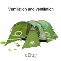 AYAMAYA Camping Tents 3-4 Person/Man/People with 2/Two Room Bedroom + Living