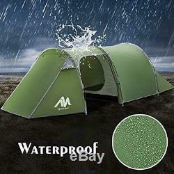 AYAMAYA Camping Tents 3-4 Person/Man/People with 2/Two Room Bedroom + Living Ro