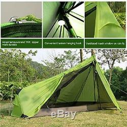 Andaker Tents 1.6lb Ultralight Backpacking One Person Man Hiking Single Camping