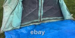 Antique Vtg Camping 2-Man Canvas CAMEL MFG PUP TENT 211-A 912-46 Camp WOW