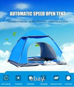 Automatic Pop Up Outdoor Family Camping Tent Camp Tents Ultralight 1/4 Person