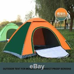 Automatic Pop Up Outdoor Family Camping Tent Oxford Cloth Fiber Windproof Warm