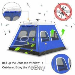 Ayamaya Camping Tents 4-6 Persons/People/Man Instant Cabin Tent with 6 Screen